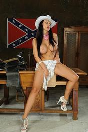 Aletta Ocean Naughty American Cowgirl Gets Nude 04