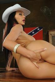 Aletta Ocean Naughty American Cowgirl Gets Nude 12