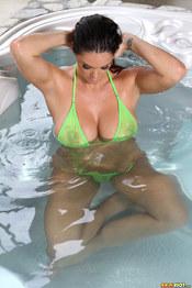 Alison Tyler In Green Bikini 05