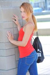 Skinny Teen Anita Flashing 01