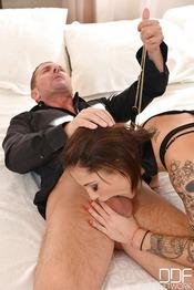 Tattooed Italian Nikita Bellucci Taking DP 02
