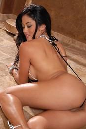 Jayd Lovely Tiny Sling Black Thong 04