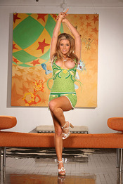 Heather Vandeven Green Summer Dress 00
