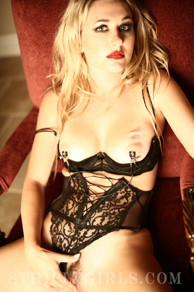 Andrea Lowell In Hot Black Lingerie