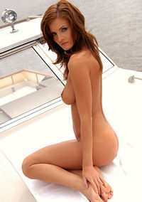 Sexy Girl On The Boat