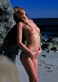 Monique Alexander Undresses At The Beach