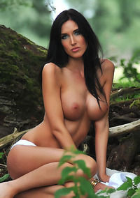Busty Babe Bailey Godfrey Strips In The Nature