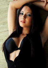Natasha Belle In Tight Black Pants