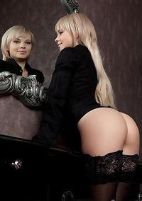 Slutty Blonde Teen Girl Feeona Shows Pussy