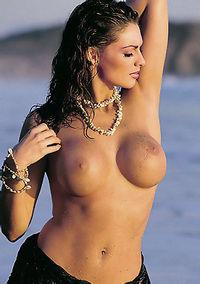 Merritt Cabal Shows Amazing Boobs On The Beach