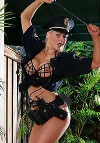 Sasha Sexy Police Girl Strips And Posing Nude