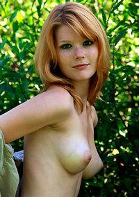Mia Sollis Redhead Girl Shows Pussy