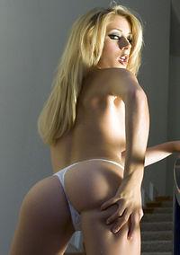 Julia Crown In Sexy White Panties