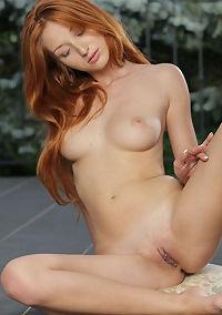 Skinny Little Redhead Babe