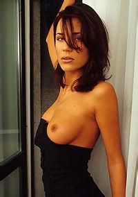 Vanessa Davis In Sexy Black Dress