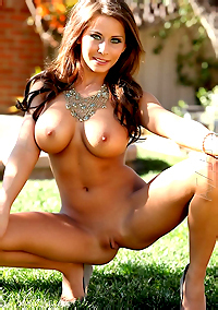 MADISON IVY STRIPS IN HER BACKYARD