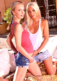Two Hot Blonde Lesbians Doing It Right