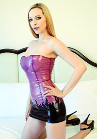 Emily Marilyn Latex Upskirt