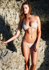 Alyssa Arce Topless On The Beach