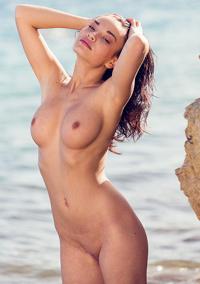 Nici Dee Strips On The Beach