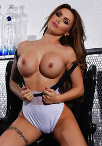 Big Boobed British Model Gemma Massey Strips