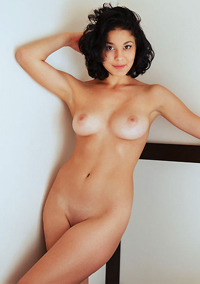 Skinny Callista B Stripping