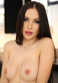Sasha Rose Strips Off Her Purple Lingerie