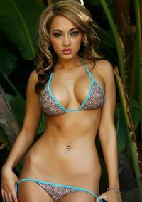 Green Eyed Ashley Teases In A Tiny Bikini