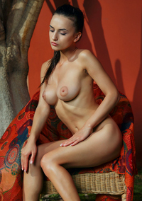 Gloria Sol Strips In Erotic Art Pics