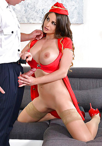 Buxom Euro Mom In Uniform Cathy Heaven
