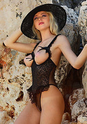 Blonde Girl Tatiana In Hot Lingerie