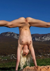 Extreme Flexible Adelia B Nude In The Nature