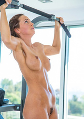 Abigail Mac: Topless Workout