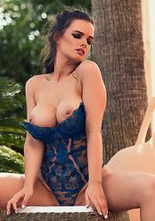 Ashley White Posing Naked Outdoor