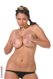 Aria Giovanni Strips And Spreads Pussy 07