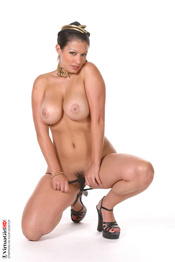 Aria Giovanni Strips And Spreads Pussy 08